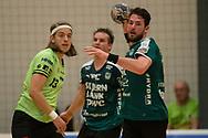 HÅNDBOLD: Bjarte Myrhol (Skjern) med bolden under kampen i 888-Ligaen mellem Nordsjælland Håndbold og Skjern Håndbold den 7. marts 2018 i Helsinge Hallen. Foto: Claus Birch.