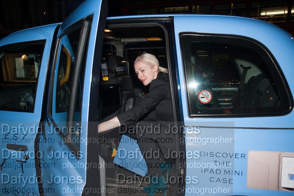PORTIA FREEMAN, Smythson Sloane St. Store opening. London. 6 February 2012.