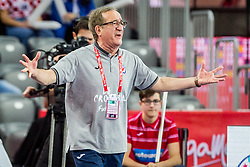 Dino Cervar, head coach of Croatia during handball match between National teams of Croatia and Czech Republic in 5/6 placement match of Men's EHF EURO 2018, on January 26, 2018 in Arena Zagreb, Zagreb, Croatia. Photo by Vid Ponikvar / Sportida