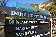 Dana Point Harbor Signage