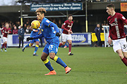 AFC Wimbledon striker Lyle Taylor (33) controlling the ball during the EFL Sky Bet League 1 match between AFC Wimbledon and Northampton Town at the Cherry Red Records Stadium, Kingston, England on 10 February 2018. Picture by Matthew Redman.