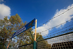 ROMANIA ONESTI 26OCT12 - Gated entrance to Onesti zoo.  ..The zoo has been shut down due to non-adherence with EU regulations on the welfare of animals......jre/Photo by Jiri Rezac / WSPA.....© Jiri Rezac 2012