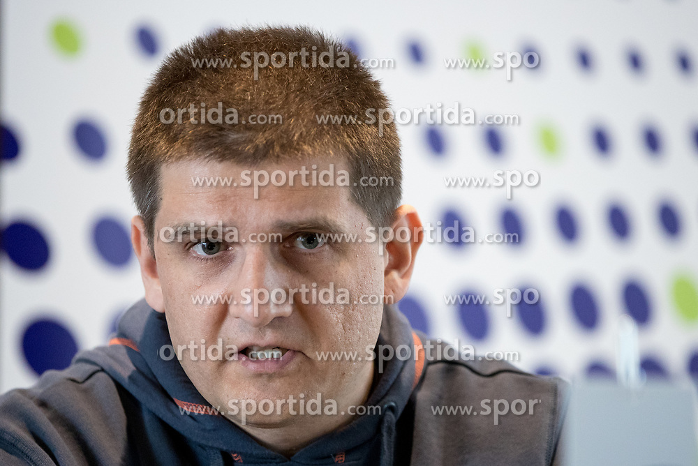 Mirko Skoko of MRK Krka at press conference of Slovenian Handball League before the Playoff, on March 15, 2017 in NLB Center inovativnega podjetnistva, Ljubljana, Slovenia. Photo by Matic Klansek Velej / Sportida