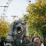 Greenpeace and the giant polar bear Aurora outside Shell London HQ.  'Save the Arctic' is a long running campaign by Greenpeace targeting oil companies like Shell. Greenpeace wants oil exploration in the Arctic to stop and the giant polar bear Aurora has spend the past 4 weeks outside Shell's London HQ demanding Shell to stop drilling for oil. On Monday Sept 28 Shell announced they would stop drilling, a huge victory for Greenpeace and the environment movement.
