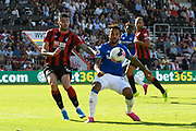 Diego Rico (21) of AFC Bournemouth challenges Theo Walcott (11) of Everton during the Premier League match between Bournemouth and Everton at the Vitality Stadium, Bournemouth, England on 15 September 2019.