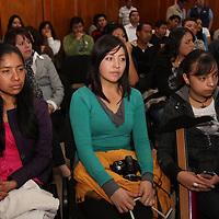 Toluca,  Mex -  Martin Mosqueda, sub Director del Instituto Mexiquense Contra las Adicciones durante su participación en el  Foro Por un Estado de Mexico Libre de Humo de Tabaco organizado en la Legislatura mexiquense.   Agencia MVT / Crisanta Espinosa.