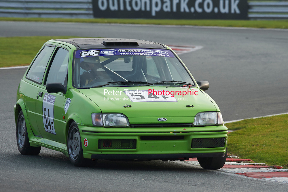 #54 Paul GRIFFIN Ford Fiesta XR2i during CNC Heads Sports/Saloon Championship - Race 2  as part of the BARC Championships Race Day at Oulton Park, Little Budworth, Cheshire, United Kingdom. October 03 2015. World Copyright Taylor/PSP. Copy of publication required for printed pictures.  Every used picture is fee-liable. http://archive.petertaylor-photographic.co.uk