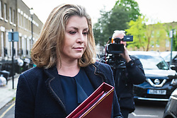 © Licensed to London News Pictures. 02/05/2019. London, UK. Newly-appointed Secretary of State for Defence Penny Mordaunt leaves her London home. Former Secretary of State for Defence Gavin Williamson has been sacked for alleged involvement in leaking sensitive information over Huawei's possible involvement in building the UK's 5G network. Photo credit: Rob Pinney/LNP