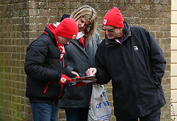 Bristol City fans at Watford - Mandatory by-line: Robbie Stephenson/JMP - 06/01/2018 - FOOTBALL - Vicarage Road - Watford, England - Watford v Bristol City - Emirates FA Cup third round proper