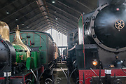 Museo del Ferrocarril (Railway Museum) at Madrid-Delicias railway station. Madrid, Spain