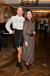 Left to right, MASHA MARKOVA HANSON and KATYA FORMICHEV at the 3rd annual Gynaecological Cancer Fund Ladies Lunch at Fortnum & Mason, 181 Piccadilly, London on 29th September 2016.