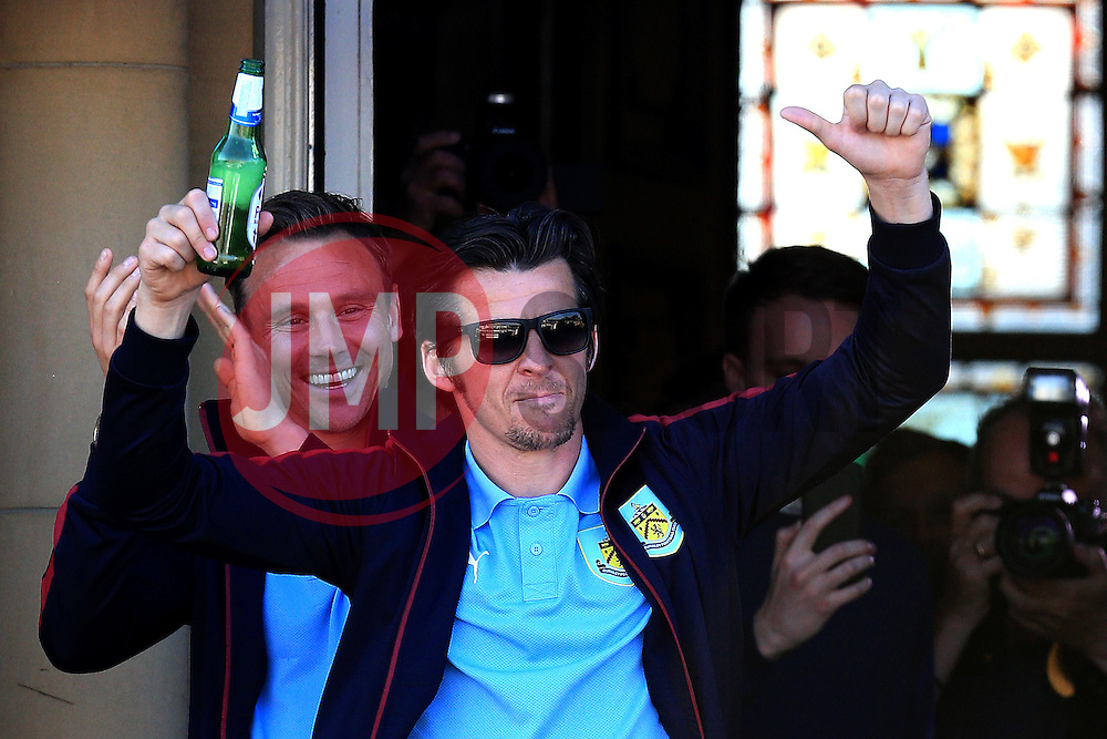 Burnley's Joey Barton celebrates with the fans - Mandatory by-line: Matt McNulty/JMP - 09/05/2016 - FOOTBALL - Burnley Town Hall - Burnley, England - Burnley FC Championship Trophy Presentation