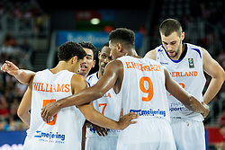 Players of Netherlands during basketball match between Netherlands and Croatia at Day 5 in Group C of FIBA Europe Eurobasket 2015, on September 9, 2015, in Arena Zagreb, Croatia. Photo by Vid Ponikvar / Sportida