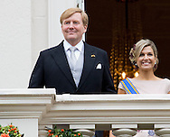 The Hague, 15-09-2015<br /> <br /> King Willem-Alexander and Queen Maxima, Prince Constantijn and Princess Laurentien at the balcony of the Noordeinde Palace<br /> <br /> Photo: Royalportraits Europe/Bernard Ruebsamen