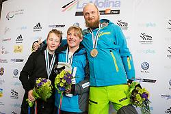 VOS Chris, MOEN Kristian, PIKALOV Serafim, Snowboarder Cross, 2015 IPC Snowboarding World Championships, La Molina, Spain