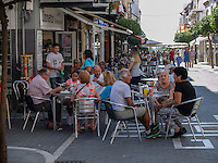 Pedestrian street, San Pedro de Alcantara, Marbella, Spain, October,  2016, 201610092857<br />