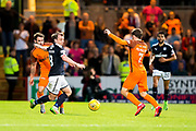 Dundee forward Paul McGowan (#18) and Dundee United forward Paul McMullan (#7) contest the ball in the middle of the pitch during the Betfred Scottish Cup match between Dundee and Dundee United at Dens Park, Dundee, Scotland on 9 August 2017. Photo by Craig Doyle.
