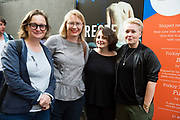 18/07/2017 Repro Free:   Sonya Kelly, Pamela McQueen Caitriona McLaughlin and Amy Conroy at the opening night of Crestfall by Mark Rowe directed by Annabelle Comyn at the Mick Lally Theatre, Druid Lane Galway  during the 40th Galway International Arts Festival. Photo:Andrew Downes, xposure .