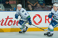 PENTICTON, CANADA - SEPTEMBER 8: Cole Candella #68 of Vancouver Canucks skates against the Winnipeg Jets on September 8, 2017 at the South Okanagan Event Centre in Penticton, British Columbia, Canada.  (Photo by Marissa Baecker/Shoot the Breeze)  *** Local Caption ***