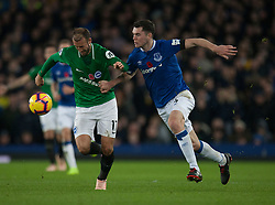 Glenn Murray of Brighton and Hove Albion (L) and Michael Keane of Everton in action - Mandatory by-line: Jack Phillips/JMP - 03/11/2018 - FOOTBALL - Goodison Park - Liverpool, England - Everton v Brighton and Hove Albion - English Premier League