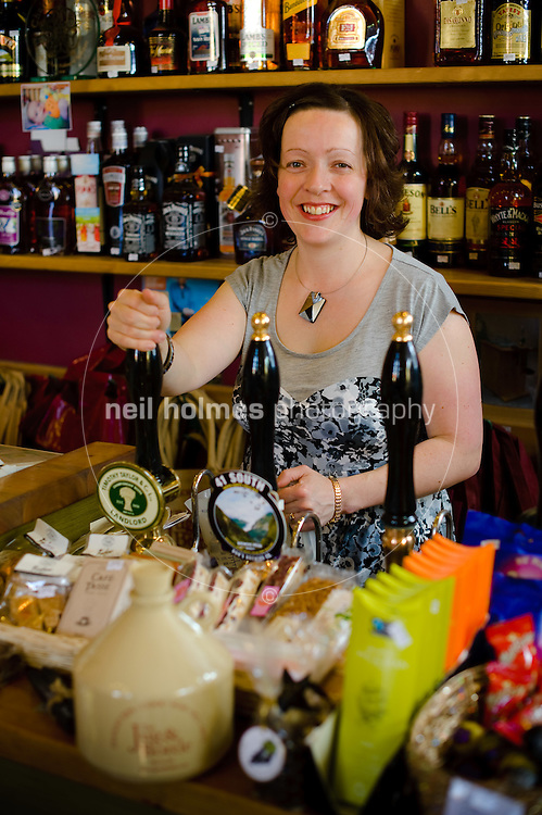 Louise Smith owner of the Jug & Bottle off licence and deli, Bubwith village, East Yorkshire.