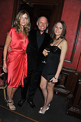 Left to right, CAROL WEATHERALL, RON DENNIS and his daughter CHARLOTTE DENNIS at the 39th birthday party for Nick Candy in association with Ciroc Vodka held at 5 Cavindish Square, London on 21st Januatu 2012.