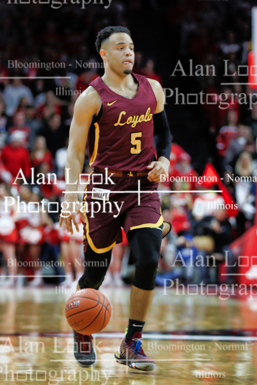 NORMAL, IL - February 02: Marques Townes during a college basketball game between the ISU Redbirds and the University of Loyola Chicago Ramblers on February 02 2019 at Redbird Arena in Normal, IL. (Photo by Alan Look)