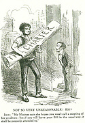 Lord John Russell (1792-1878) created lst Earl Russell 1861, English Whig and Liberal statesman. Russell, as Prime Minister, accepting the People's Charter on behalf of his Mistress (Queen Victoria but, more properly, Parliament). Cartoon from 'Punch', 1848.