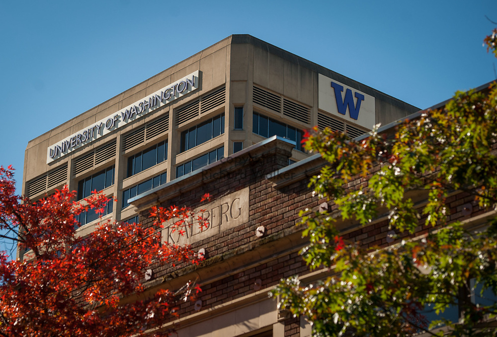 2016 October 11 - University of Washington building in the University District, Seattle, WA, USA. By Richard Walker