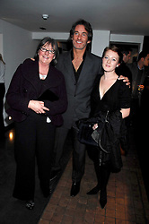 Left to right, MRS HILARY JEFFERIES, MR TIM JEFFERIES and his niece MILLY McILVENNY at a private view of Octagan a showcase of work of photographer Kevin Lynch featuring the stars of the Ultimate Fighter Championship held at Hamiltons gallery, Mayfair, London on 17th January 2008.<br />