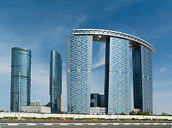 Modern new recently completed high-rise apartment towers  on Al Reem Island in Abu Dhabi United Arab Emirates UAE