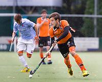 EINDHOVEN - hockey - Elliot van Strydonck van OZ tijdens de hoofdklasse hockeywedstrijd tussen de mannen van Oranje-Zwart en Bloemendaal (3-3). COPYRIGHT KOEN SUYK