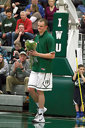 21 February 2015:   Brandon Heyen during an NCAA men's division 3 CCIW basketball game between the Elmhurst Bluejays and the Illinois Wesleyan Titans in Shirk Center, Bloomington IL