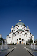 St Sava Cathedral, the largest Orthodox cathedral in the world in<br /> Belgrade, Serbia