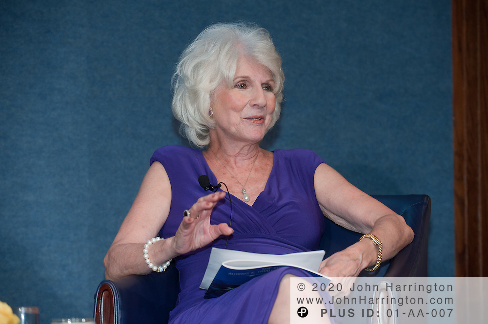 Diane Rehm, NPR host and dinner Co-chair honors Morton Kondracke former Roll Call executive editor and current FOX News contributor for his work advocating for Parkinson's, at the National Press Club in Washington, DC on September 14th, 2011.