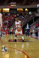 "24 February 2008: Keith ""Boo"" Richardson In an ESPN Bracket Buster game, the Wright State Raiders were defeated 54-46 by the Illinois State University Redbirds on Doug Collins Court inside Redbird Arena in Normal Illinois."