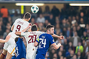3rd goal for AS Roma AS Roma (9) Edin Džeko during the Champions League match between Chelsea and Roma at Stamford Bridge, London, England on 18 October 2017. Photo by Sebastian Frej.