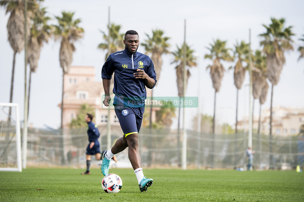 January 6, 2018 - Oliva, SPAIN - Gent's Anderson Esiti pictured in action during the second day of the winter training camp of Belgian first division soccer team KAA Gent, in Oliva, Spain, Saturday 06 January 2018. BELGA PHOTO JASPER JACOBS (Credit Image: © Jasper Jacobs/Belga via ZUMA Press)