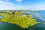 Nederland, Noord-Holland, Amsterdam, 13-06-2017; Polder IJdoorn, buitendijkse polder gelegen in IJsselmeer ((IJmeer), ter hoogte van Durgerdam. Polder is eigendom van de Vereniging Natuurmonumenten.<br /> Polder IJdoorn, located in IJsselmeer near Amsterdam.<br /> luchtfoto (toeslag op standaard tarieven);<br /> aerial photo (additional fee required);<br /> copyright foto/photo Siebe Swart
