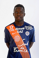 Mamadou NDIAYE - 06.10.2015 - Photo officielle Montpellier - Ligue 1<br /> Photo : De Hullessen / Mhsc / Icon Sport