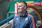Dean Smith (Manager) before the Sky Bet Championship match between Huddersfield Town and Brentford at the John Smiths Stadium, Huddersfield, England on 7 May 2016. Photo by Mark P Doherty.