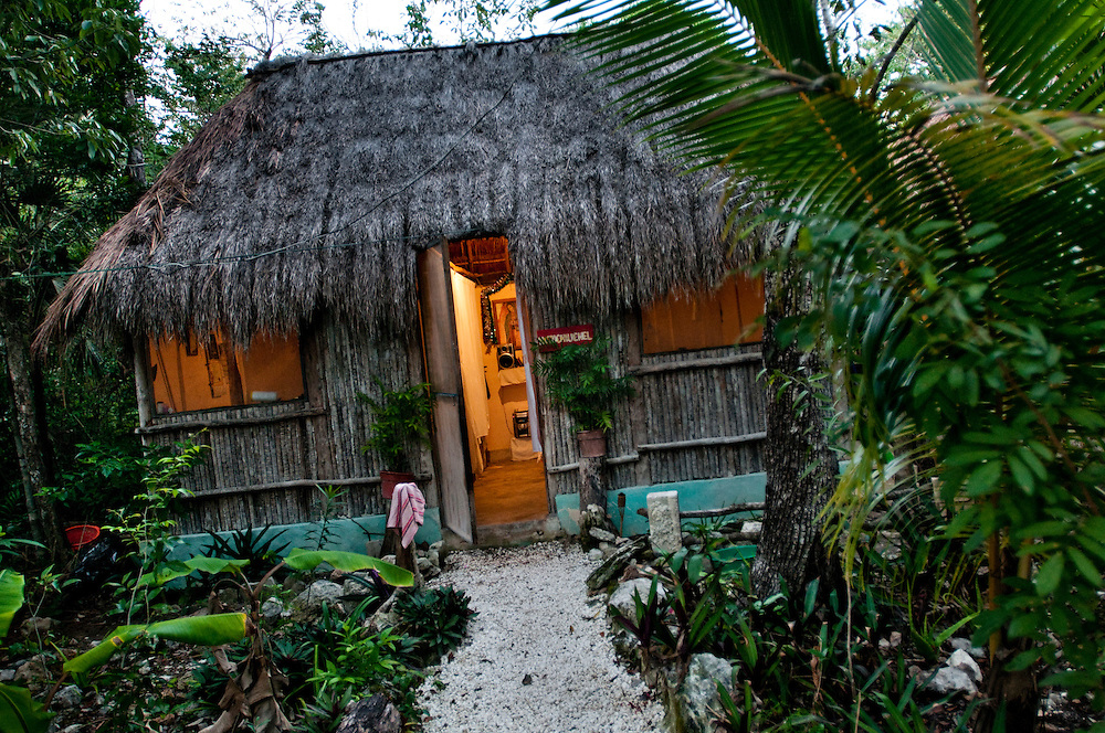 The Jungle Spa in Puerto Morelos, Mexico, just 20 minutes from Cancun is managed by Sandra Dayton who is also the co-founder of the non-profit organization Lu'um K'aa Nab that helps mayan women make a living for them selves by selling handicraft and giving mayan massage at the Jungle Spa.