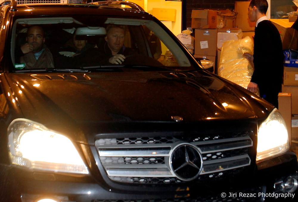 UK ENGLAND LONDON 123FEB10 - Former tennis star Boris Becker, his wife Lilly and their newly born son Amadeus leave Portland Hospital in central London...jre/Photo by Jiri Rezac..© Jiri Rezac 2010