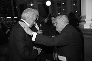 NICKY HASLAM; SIR JOHN RICHARDSON, The London Library Annual  Life in Literature Award 2013 sponsored by Heywood Hill. The London Library Annual Literary dinner. London Library. St. james's Sq. London. 16 May 2013.