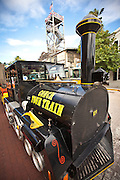 Famous Conch Tour Train imitation steam engine in Key West, Florida.