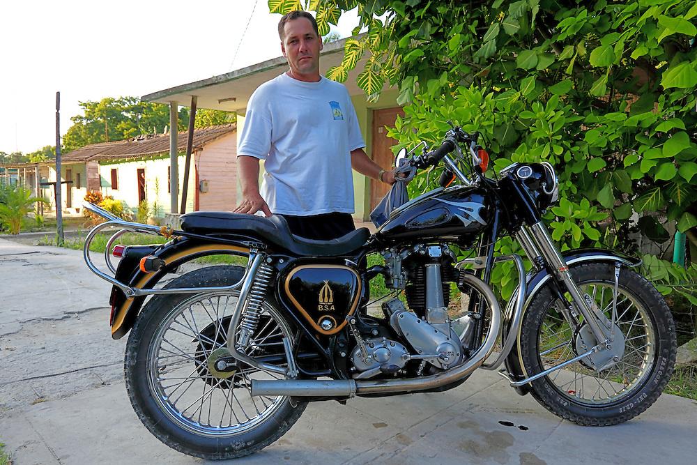 Motorcycle near Jaruco, Mayabeque, Cuba.