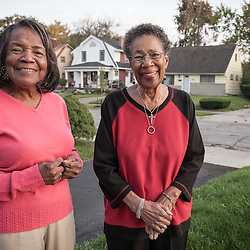 Theodosia Cole, 85 and Mignonne Whitlow 83 have both lived on Merryhill Drive Cole since 1954 and Whitlow since 1968. (Christina Paolucci, photographer).