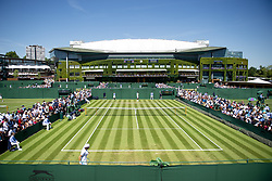July 2, 2018 - London, United Kingdom - 180702 External view of the Wimbledon centercourt and court 10 during day 1 of Wimbledon on July 2, 2018 in London..Photo: Ludvig Thunman / BILDBYRN / kod LT / 35496 (Credit Image: © Ludvig Thunman/Bildbyran via ZUMA Press)