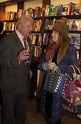 Stanley Johnson and Mary Killen. Book party for 'The Dream of Rome' by Boris Johnson. Daunts bookshop. Marylebone High St. London.  1 February 2006. -DO NOT ARCHIVE-© Copyright Photograph by Dafydd Jones 66 Stockwell Park Rd. London SW9 0DA Tel 020 7733 0108 www.dafjones.com