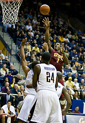 January 9, 2010; Berkeley, CA, USA;  Southern California Trojans forward Alex Stepheson (1) shoots against the California Golden Bears during the second half at the Haas Pavilion.  California defeated USC 67-59.